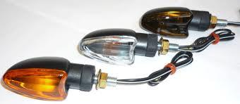 Mini Blinklys 2 stk  mørk glas universal 61-83742
