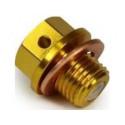 Magnetisk Oliebundprop guld M12-1,25 x 10mm incl kobber pakning Suzuki
