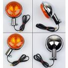 Blinklygte Komplet med ledninger og pære - Bag XVS Dragstar 125/650/1100 XV Virago 250/535/750/1000/1100  XVZ1300 XV1600/1700 xj700 VMX V-max 1200