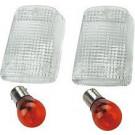 Klar blinklys glas m. pære 2 STK KAWA 85-06 EX/KL/KLR/ZR/ZX/ZXR/ZX-R