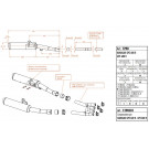 SITO mellempotte Kawasaki GPZ/GPX 600 R '86-