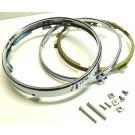 "Forchromet lygtekrans komplet, 7"" Honda 66-64334/33101-422-671 CB650/750/900 CBX1000 Gl1000"