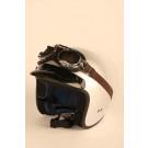 BOX J2 CLASSIC - HVID retro hjelm str XS 54(uden briller)