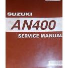 BRUGT Suzuki 99500-34070-01E service manual AN400 som ny