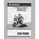 BRUGT Owners manual Gsxr600 SRAD