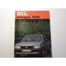BRUGT Bilårbogen 1981