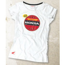 TEE SHIRT MC DAME RACING STAR HONDA L / HVID