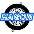 Hagon Twin Dæmper 390MM -BLACK-8MM  390MM - 50068/50070/8x19MM SUZ DR400Z JAWA/CZ RV400