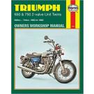 Haynes bog TRIUMPH 650CC 750CC UNIT 2-VALVE TWIN