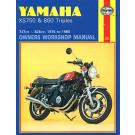 Haynes bog YAMAHA XS750 XS850 TRIPLES 76-85