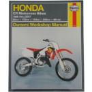 Haynes bog HONDA CR80 CR125 CR250 CR500