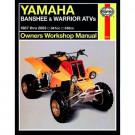 Haynes bog YFZ 350/YFM 350 Banshee, Warrior