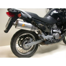 LeoVince Oval Slip-on Potte  EC-approved ALU. HONDA XL 650 V TRANSALP ALU 00-04