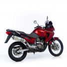 LeoVince Oval Slip-on Potte  EC-approved ALU. HONDA XL 650 V TRANSALP ALU 05-06