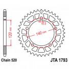 BRUGT JT JT-A1793-44 520 alu kædehjul 44t Suzuki GSXR, DL, SV 600 750 1000 -Triumph 600