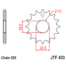 JT Fortandhjul 14 tands - JTF433.14 GSF/GSX/GSXR 400