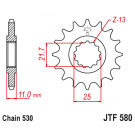 JT Kædehjul JTF580 vælg antal tænder Yamaha FZ/FZR YZF GTS 600/700/750/1000