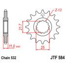 JT Fortandhjul - JTF584. vælg antal tænder Yamaha R6 FZR/YZF750 FZR/GTS/YZF1000