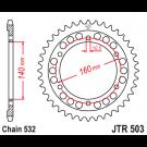 JT 45T Bagkædehjul - JTR503.45 KAWASAKI ZX10 42041-1306