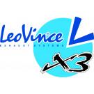 Leo Vinci X3 Slipon Titanium  - CRF 250 F 07-09