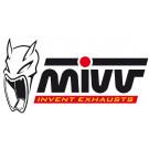 MIVV SLIP-ON 2 rustfri oval Yamaha YZF R1  07-08