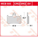 Lucas TRW Bremseklods - Sinter front MCB593SV