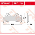 Bremseklodser TRW MCB656SV- Sinter   YZF750R FZR1000 TRIUMPH Super Daytona III  900