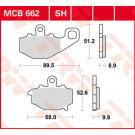 TRW MCB662 Bremseklodser  - Keramisk  (Kawa) BAG