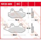 LUCAS TRW Bremseklods keramisk MCB689EC