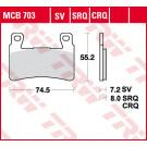 TRW Bremseklods MCB703SV - Sinter front