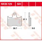 TRW MCB729 Bremseklods - Keramisk bag  (Suzuki) BAG