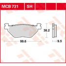 TRW Bremseklods - Sinter bag  (Yamaha TDM/XV/XVS/XT/FJR - Hyosung 650 GV - Aquila)