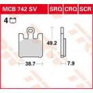 TRW MCB742SV Bremseklods - Sinter front Kawa ZX6/10/12-r  Vn1600 Suz Gsxr1000 M1600