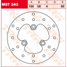 TRW Lucas MST243 Bremseskive for ell bag Adly, Cagiva, CPI, Derbi, Generic, Honda, MBK, PGO, Sinnis, SYM, TGB, Yamaha