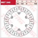 LUCAS TRW MST248 bremseskive FOR eller BAG Yamaha