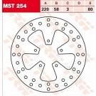 TRW Lucas MST254 Bremseskive for/bag Aprilia, Benelli, Beta, DERBI, Gilera, Piaggio