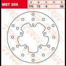 TRW Lucas MST255 Bremseskive for/bag DERBI, Gilera, Piaggio