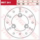 TRW Lucas MST241 Bremseskive Cagiva, Honda, Kymco, SYM