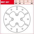 TRW Lucas MST257 Bremseskive for MBK, Yamaha