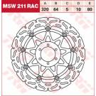 TRW Lucas MSW211RAC (Alien/Wave)  bremseskive APRILIA,DUCATI,YAMAHA