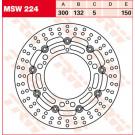 TRW LUCAS MSW224  bremseskive  Yamaha