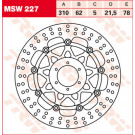 TRW Lucas MSW227 bremseskive Blade 98-99