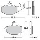 Bremseklodser SBS 687DC (Kawa) BAG RACE