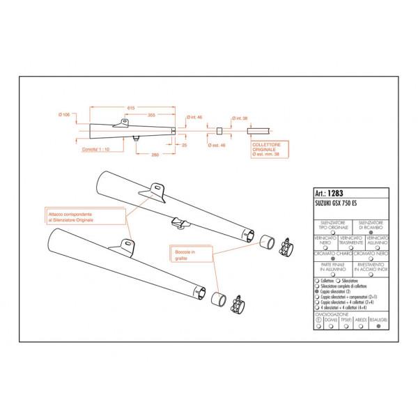 sito lydpotter suzuki gsx 750 es 83-85 crom